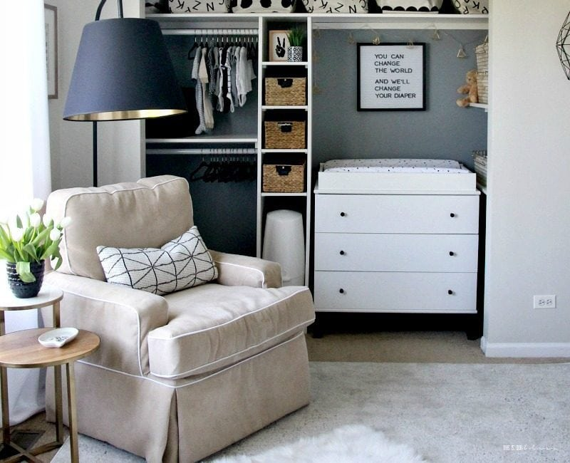 Sophisticated Blue White And Gold Glam Boy Nursery Ideas From This Is Our Bliss