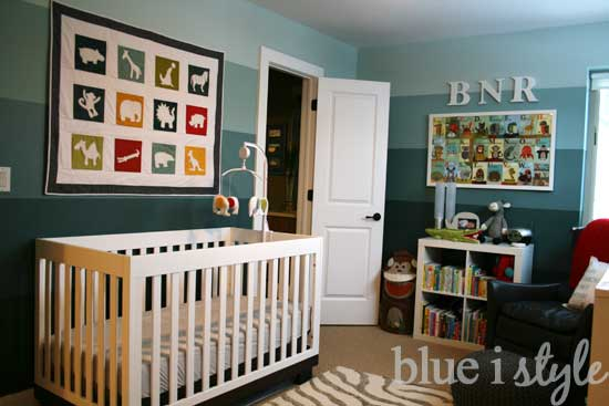 Blue Ombre Walls And Animal Themed Boy Nursery Ideas From I Style