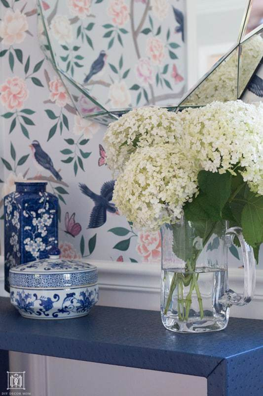 chinoiserie wallpaper - how to hang wallpaper
