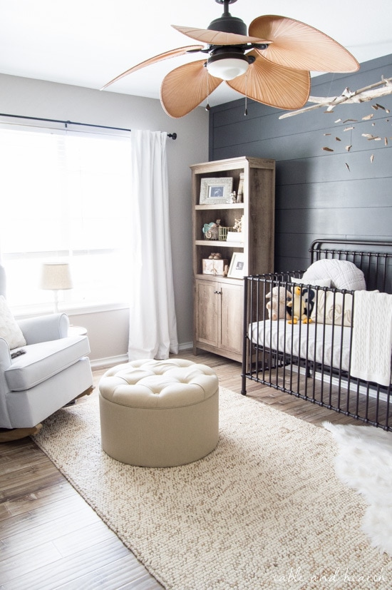 calm and coastal modern nursery from Table and Hearth