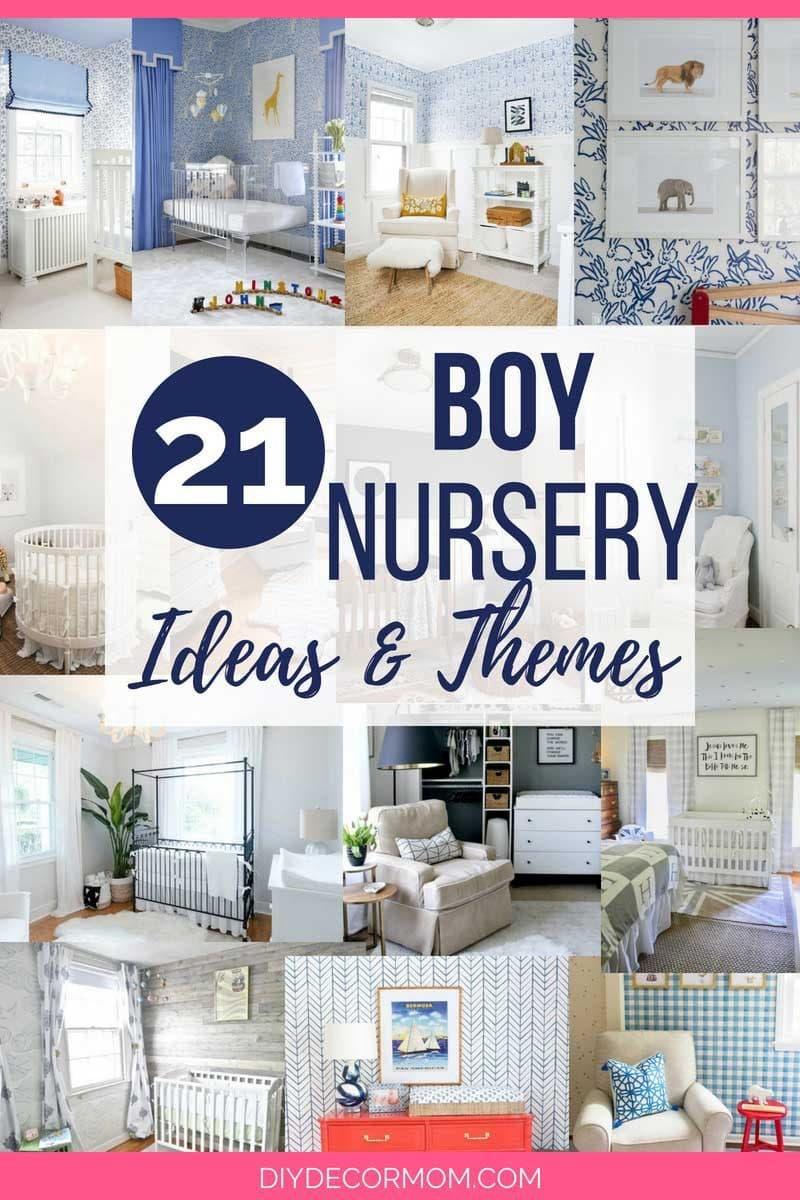 21 nursery boy ideas and nursery themes