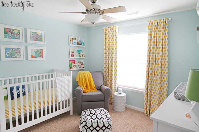 colorful bright nursery by Two Twenty One-- great boys nursery ideas and themes