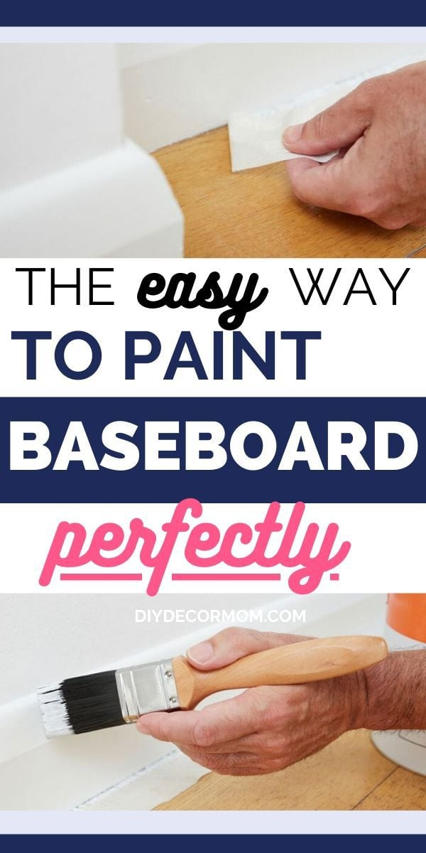 how to paint baseboard white