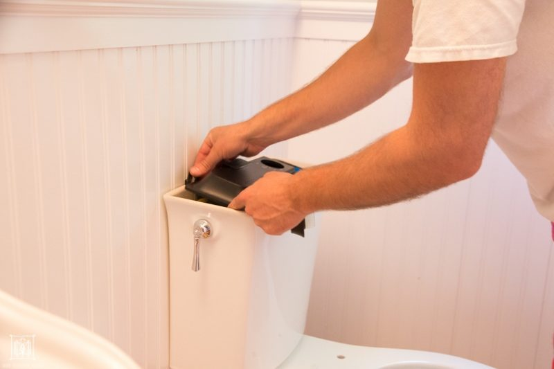 steps for installing a self-cleaning toilet