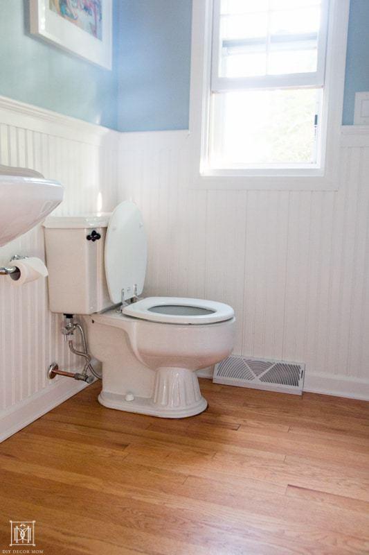 old bathroom toilet