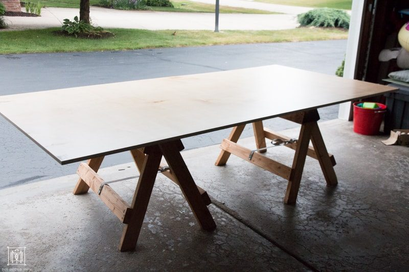 how to make a console table out of plywood