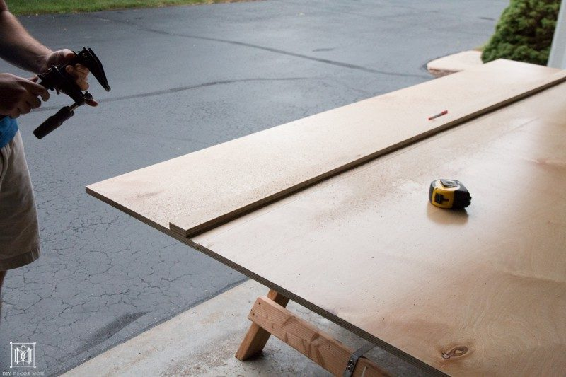 how to make a table out of plywood
