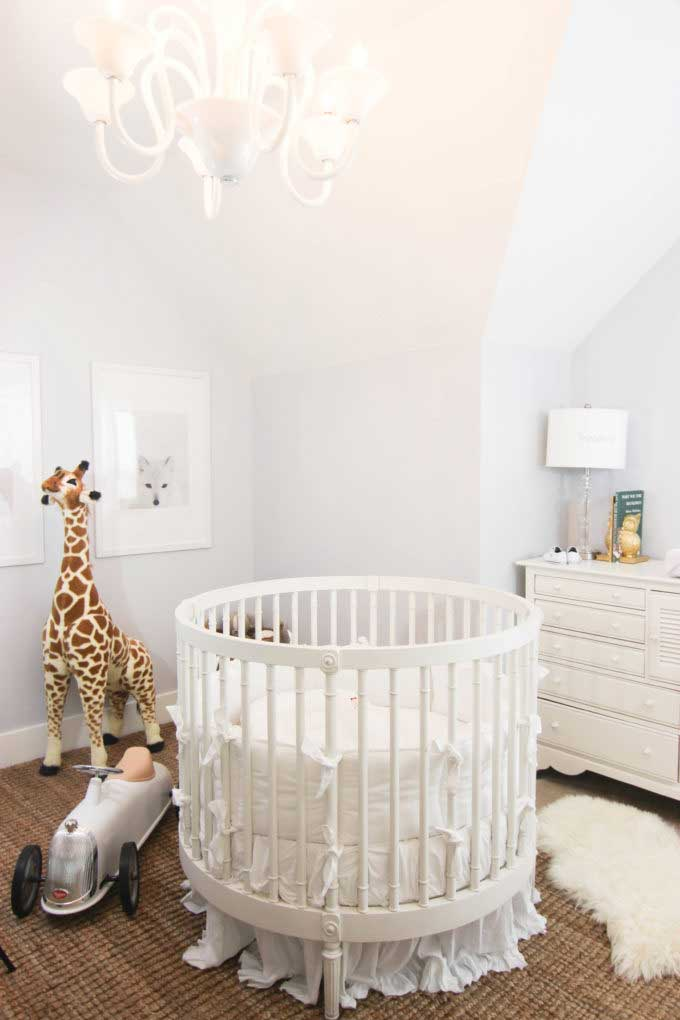 beautiful white serene nursery by Simple Nature Decor blog