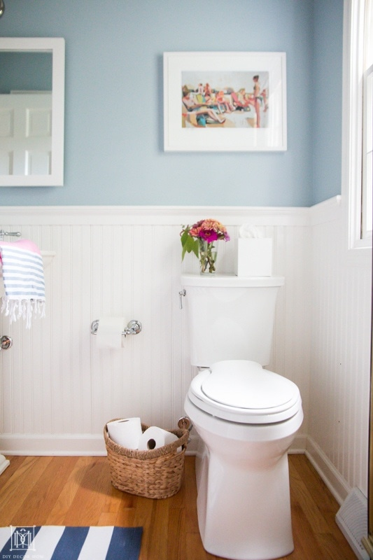 how to reduce time spent cleaning bathroom