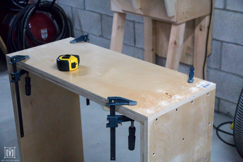 use clamps to make a console table