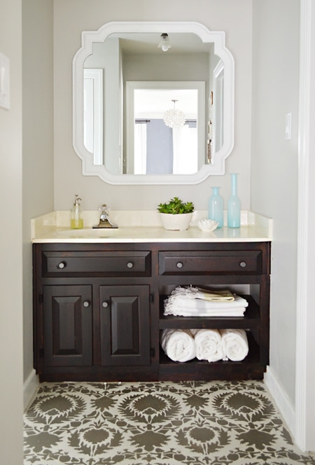 revere pewter bathroom by Young House Love