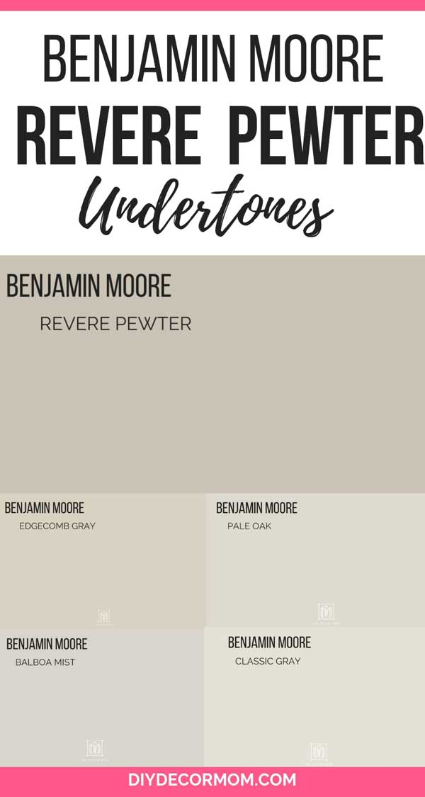 benjamin moore revere pewter undertones compared