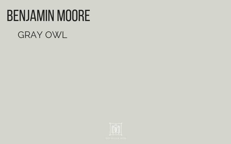 Benjamin Moore Gray Owl Paint Chip