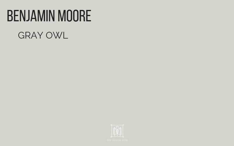 benjamin moore gray owl paint chip