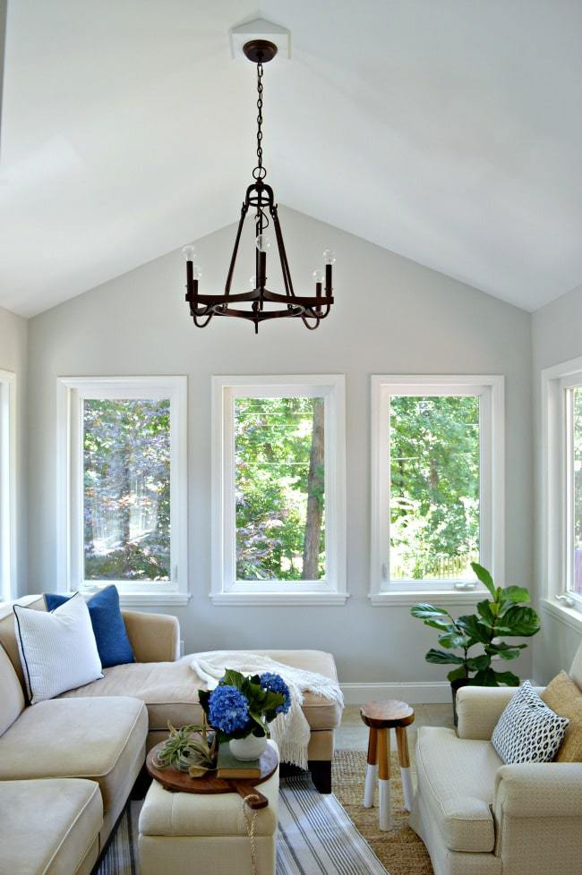 Benjamin Moore Gray Owl Sunroom By Chatfield Court