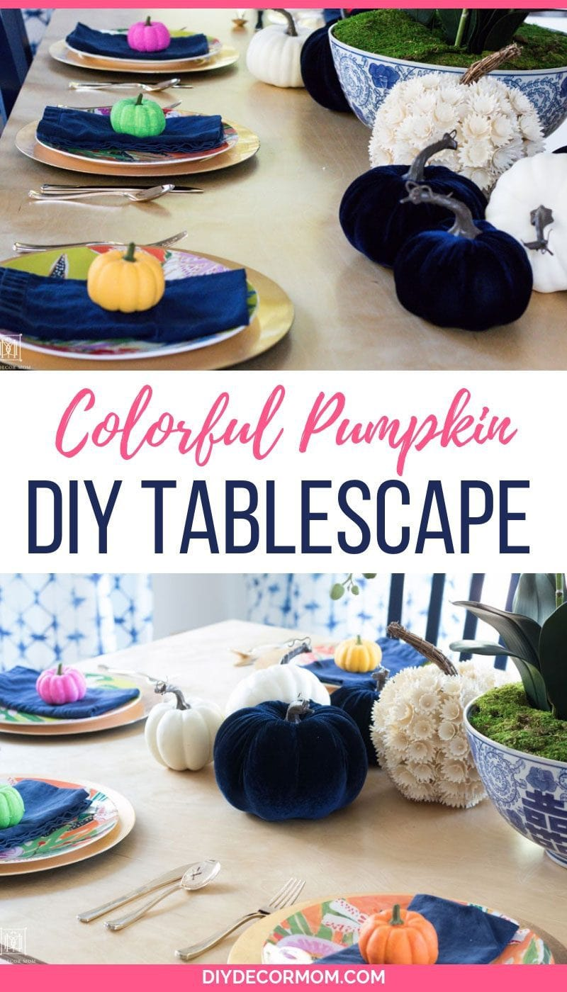 colorful pumpkin painting decorating ideas different tablescape ideas for fall decor