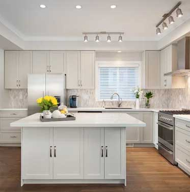 revere pewter painted kitchen cabinets and chantilly lace island