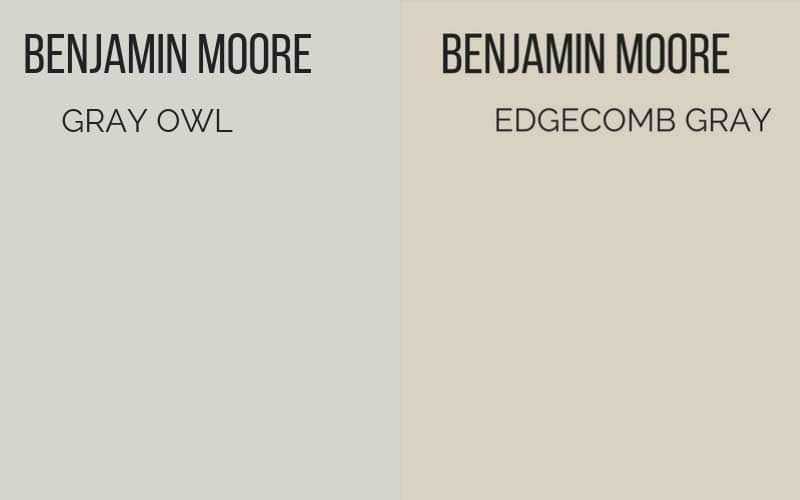 Benjamin Moore Gray Owl vs Edgecomb Gray