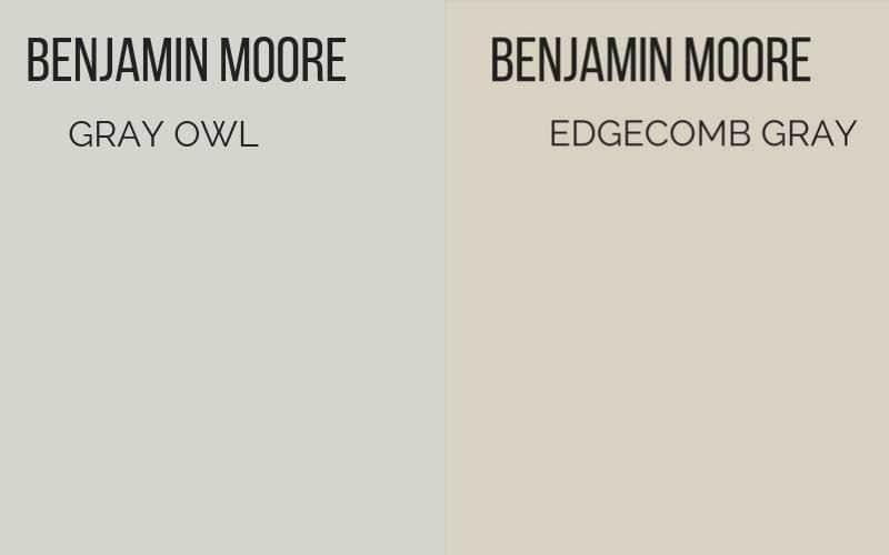 Benjamin Moore Gray Owl Vs Edgecomb