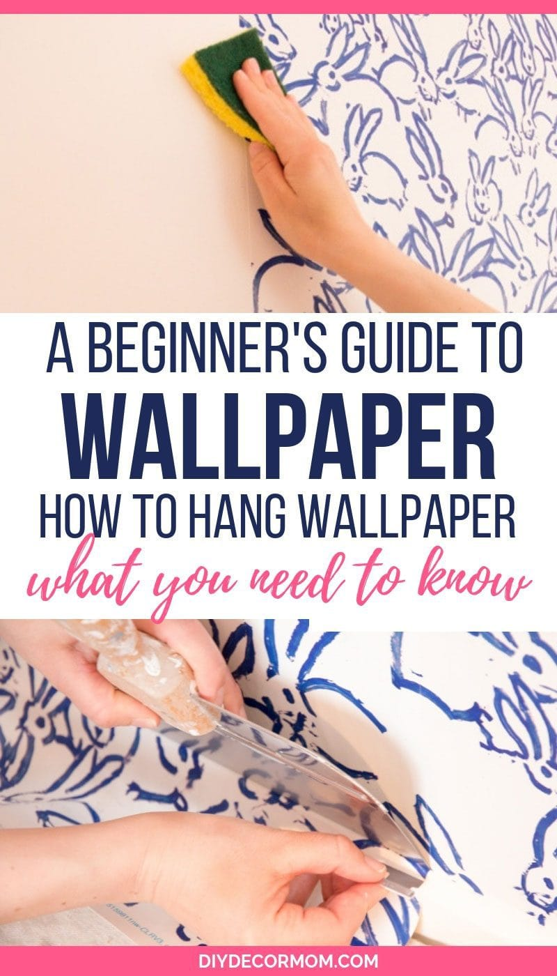 how to hang wallpaper tutorial