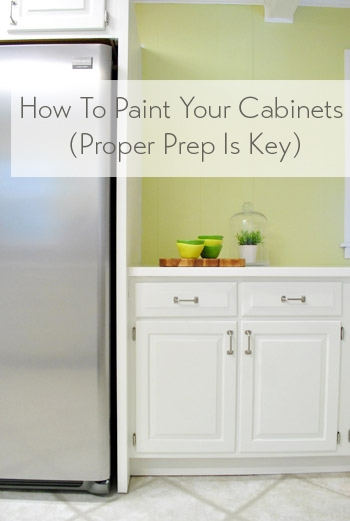 how to paint your kitchen cabinets using benjamin moore cabinet paint by Young House Love
