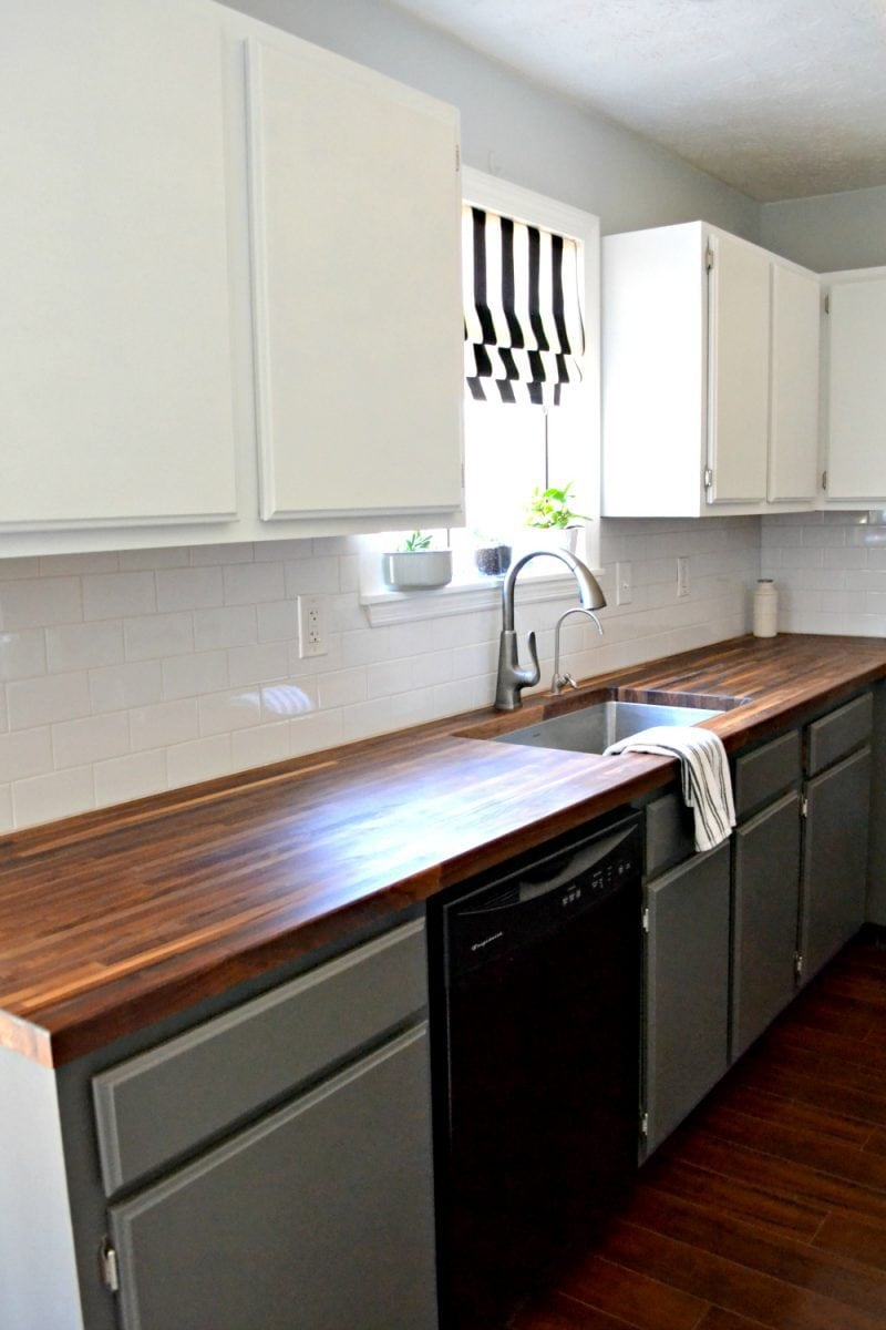 painted kitchen cabinets by ugly duckling house in BM cabinet paint