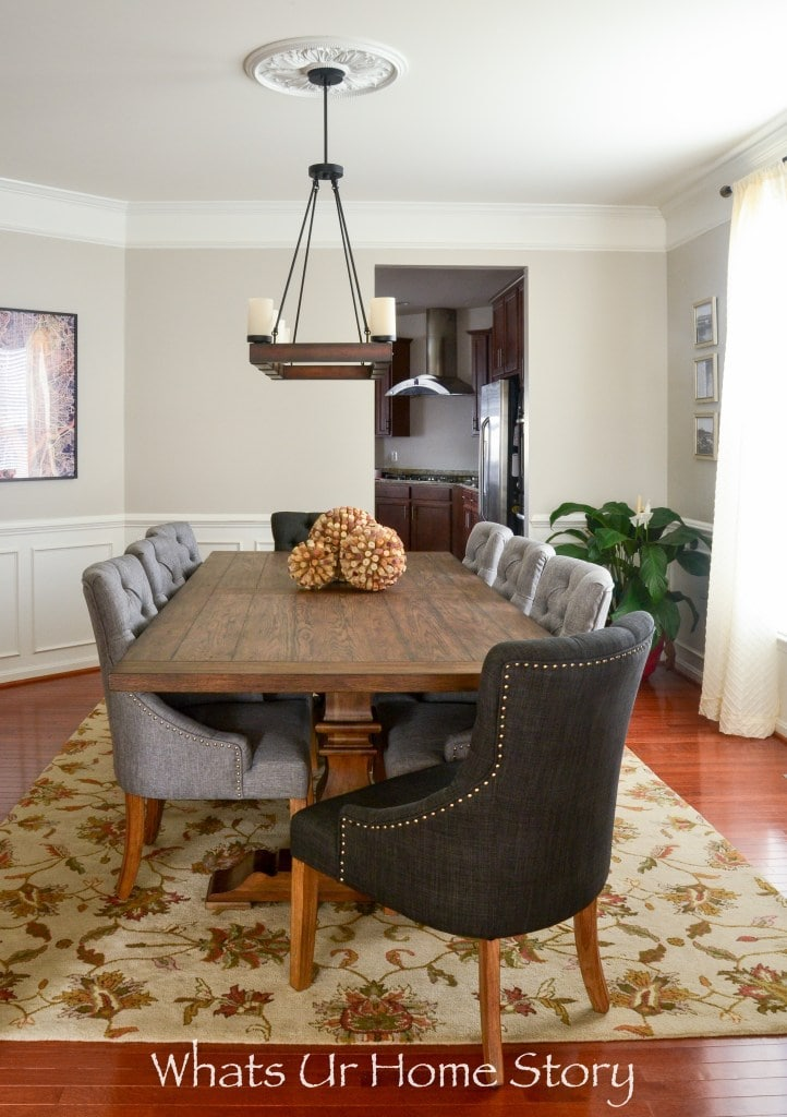 Revere Pewter by Benjamin Moore dining room by Whats Ur Home Story
