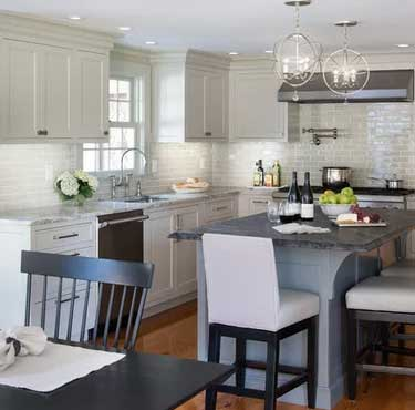 revere pewter painted kitchen cabinets