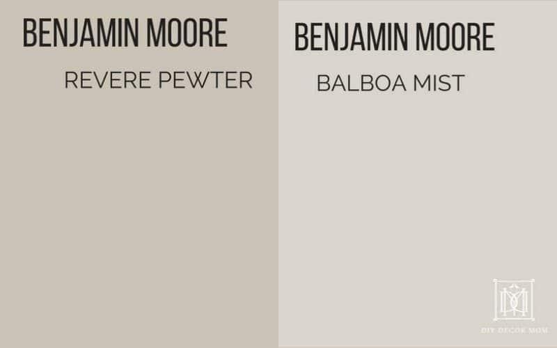 revere pewter vs balboa mist