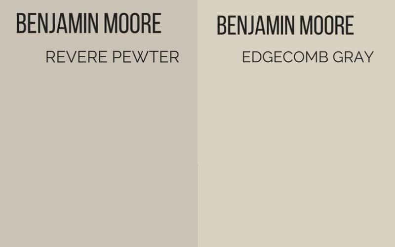 revere pewter vs edgecomb gray