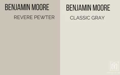 benjamin moore revere pewter vs. classic gray