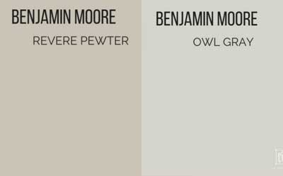 benjamin moore revere pewter vs. owl gray