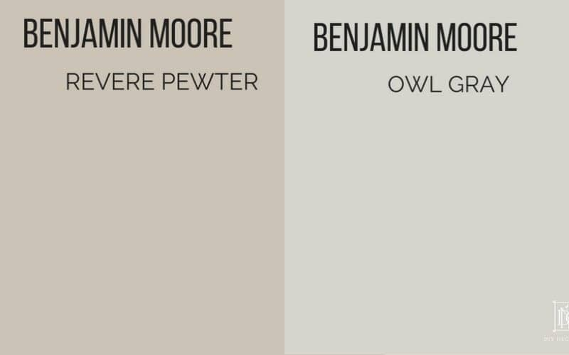 revere pewter vs owl gray