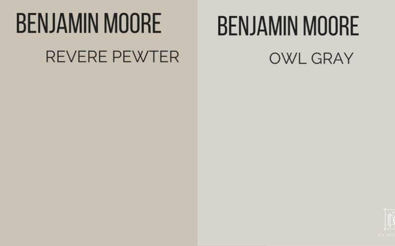 revere pewter vs owl gray