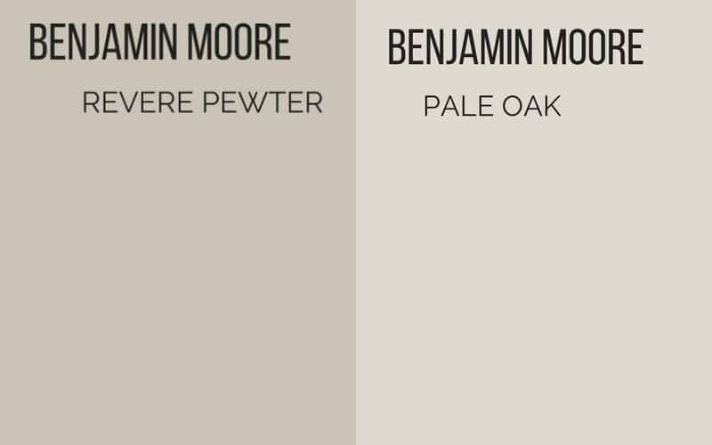 revere pewter vs pale oak