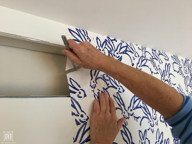 how to wallpaper around trim, doors, and vents