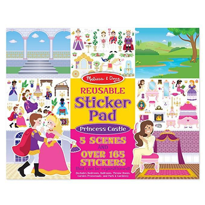 reusable sticker books are one of the best toys for 2 year old girls