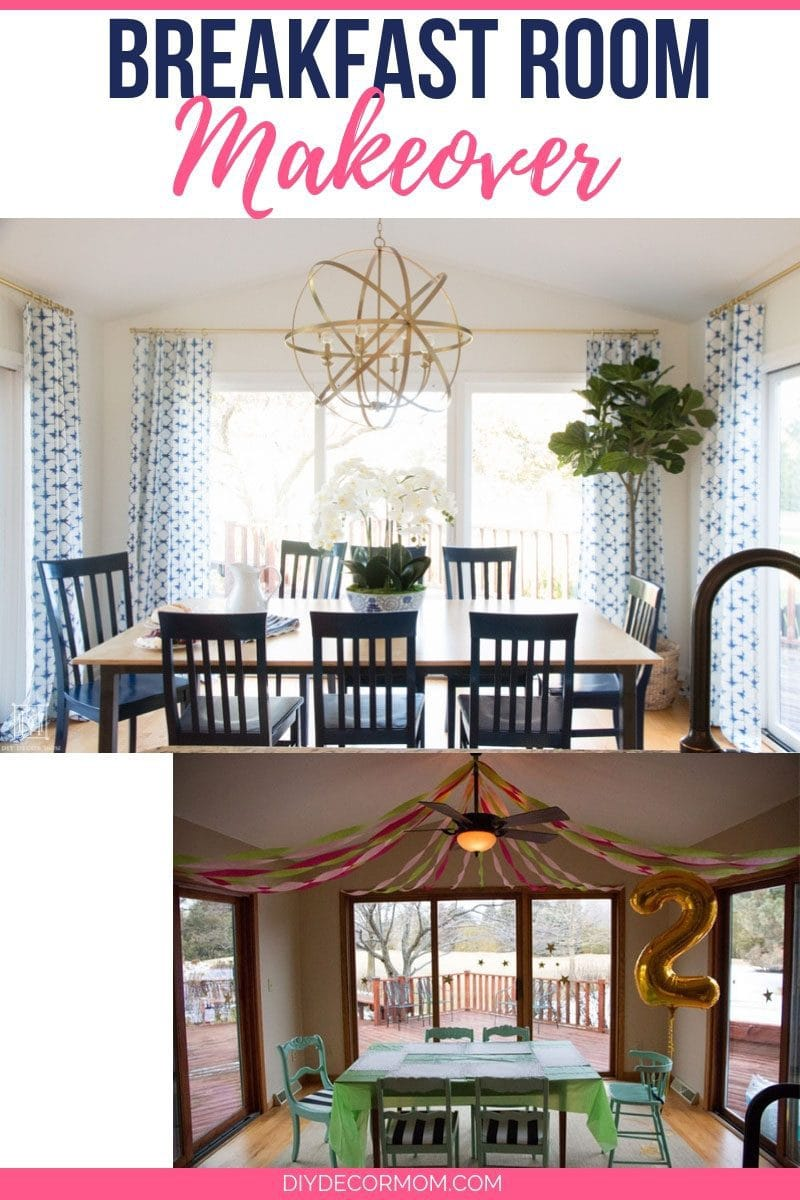 breakfast room ideas with breakfast nook table--amazing breakfast room makeover