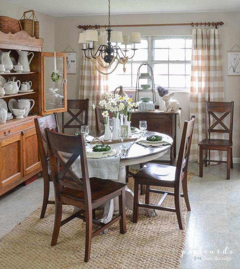 edgecomb gray dining room by postcards from the ridge