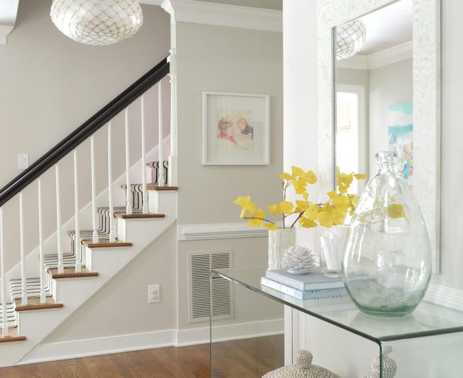 edgecomb gray foyer by young house love