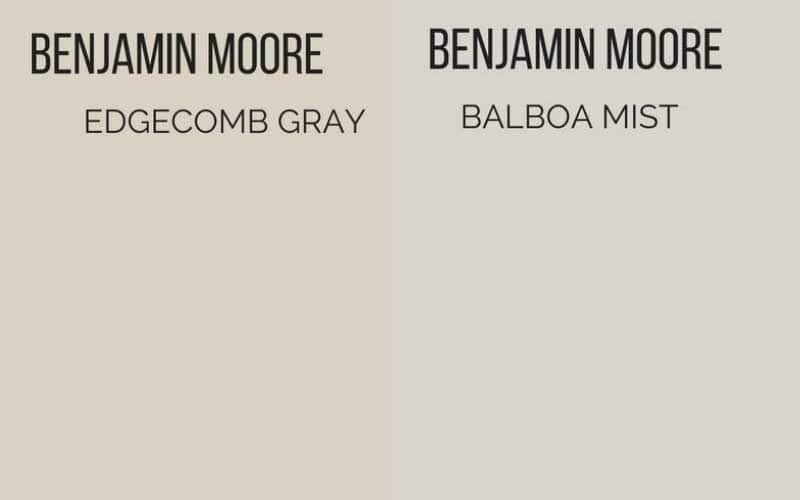benjamin moore edgecomb gray vs balboa mist