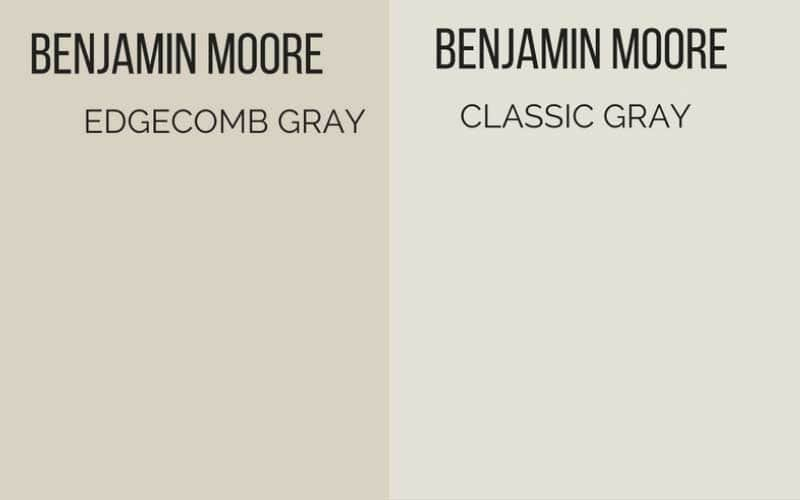 edgecomb gray vs classic gray