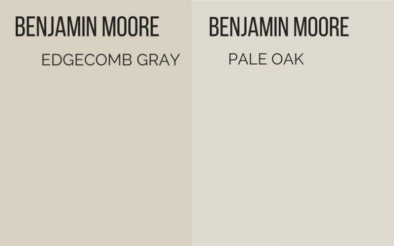 edgecomb gray vs pale oak