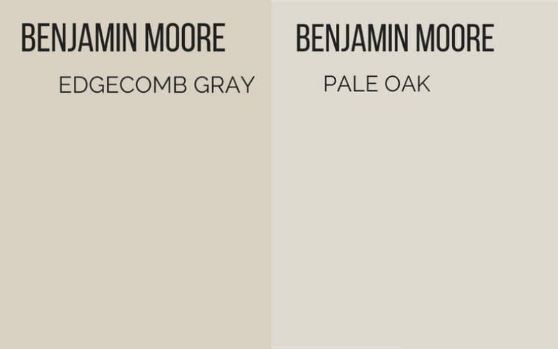 edgecomb gray vs pale oak