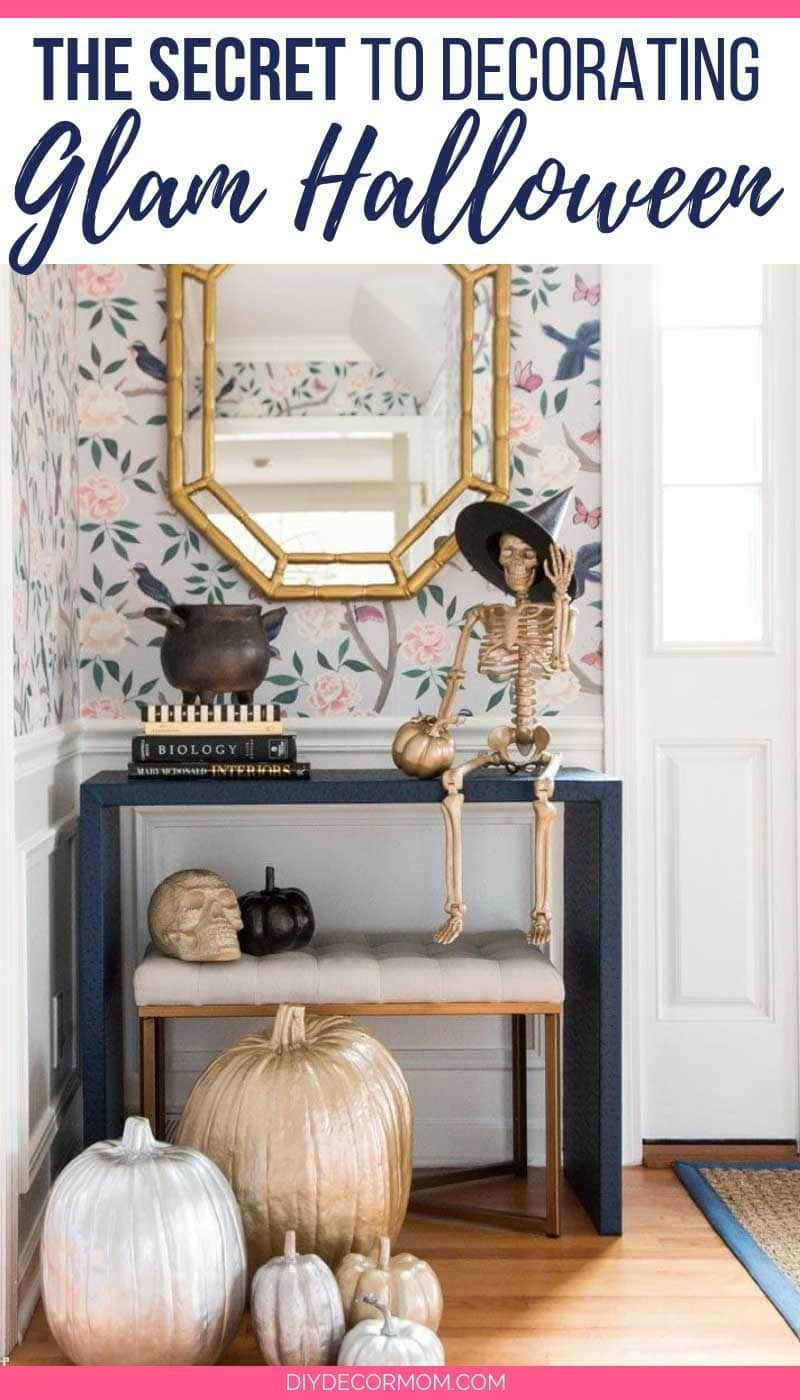 spray painted glam halloween decor