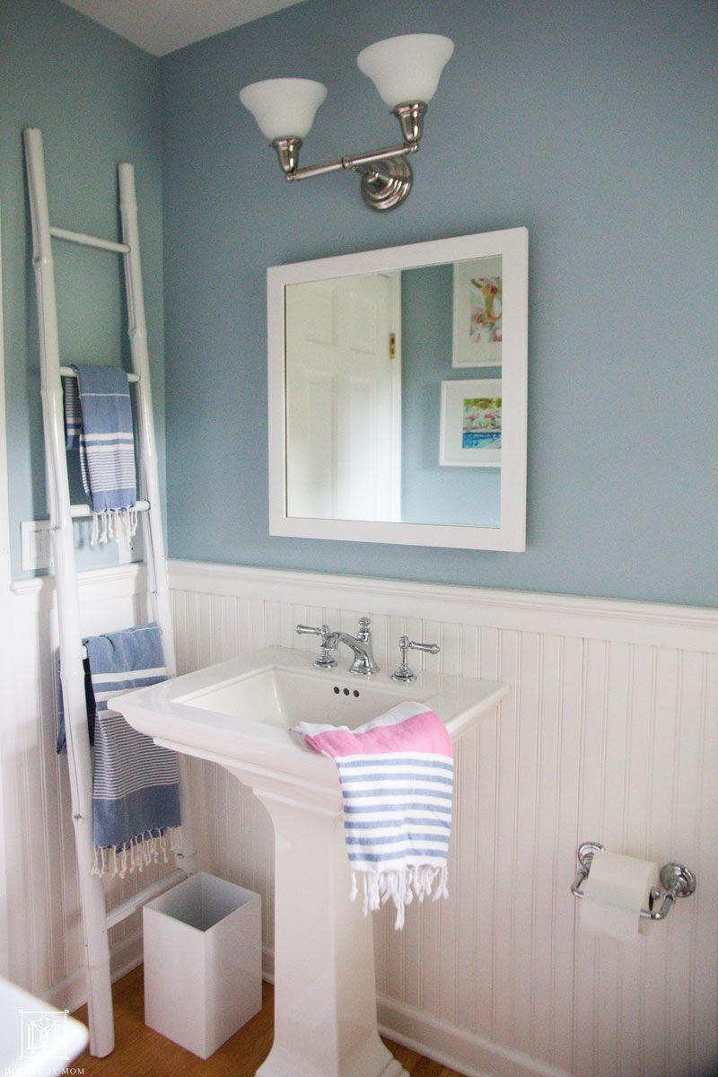 Installing a pedestal sink in a small bathroom
