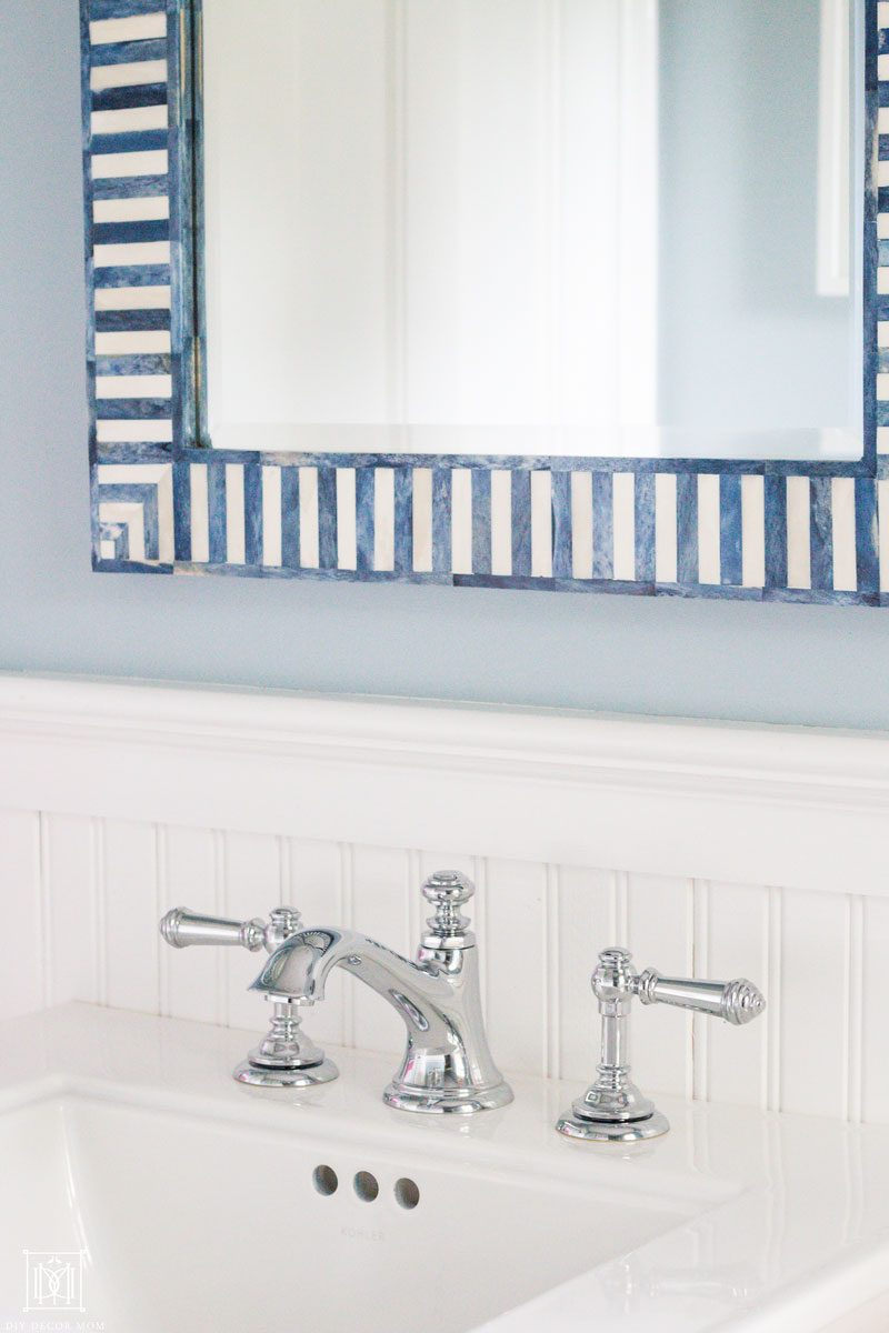 mirrors help small bathrooms appear larger