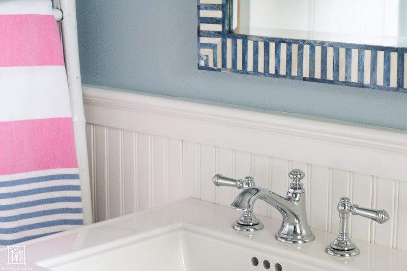 ways to make a small bathroom look bigger like using a pedestal sink from kohler