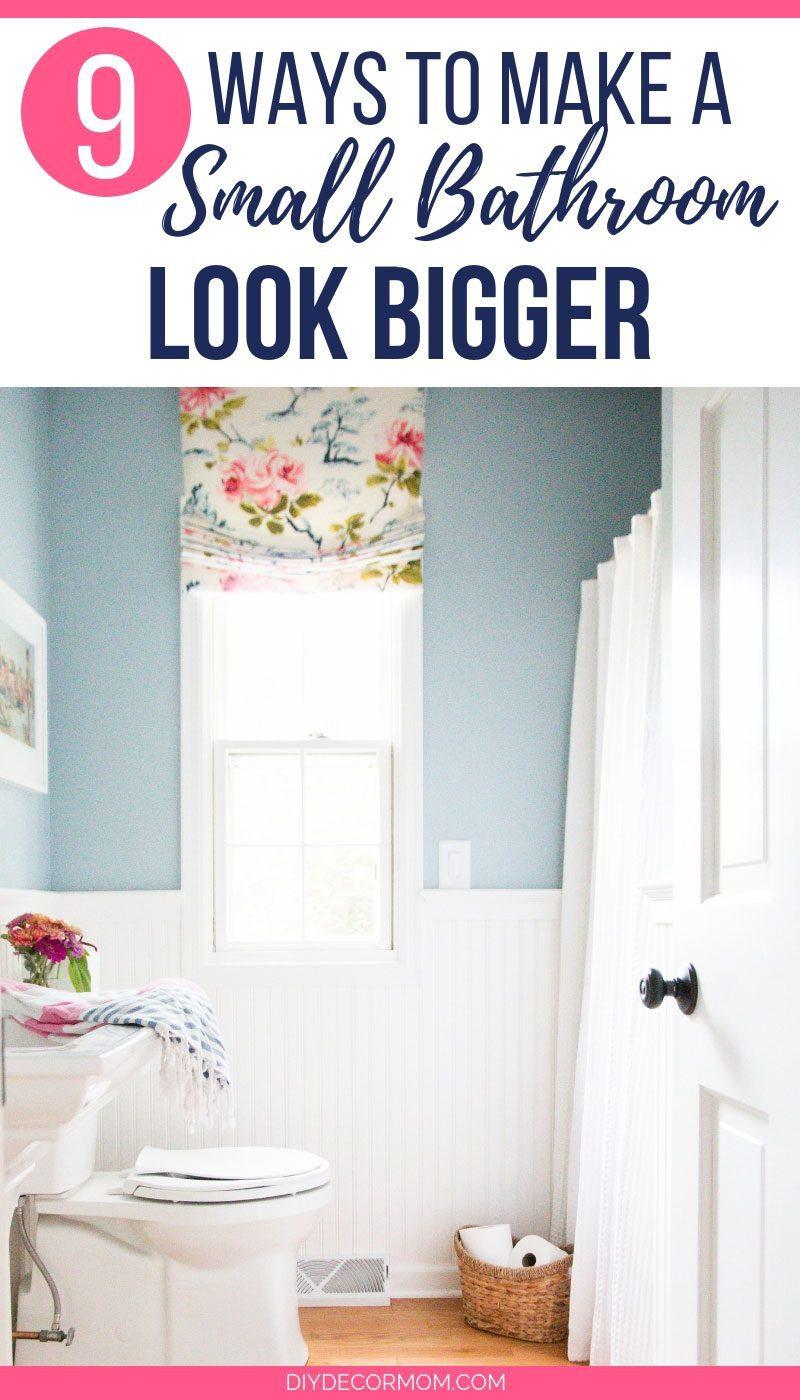 ways to make bathroom look bigger