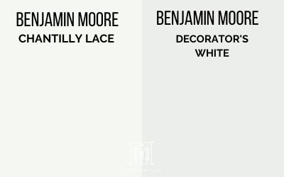 benjamin moore chantilly lace vs. decorators white